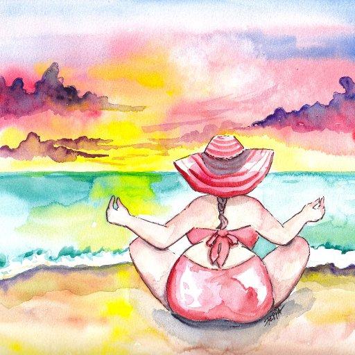 bertie beach watercolor patron