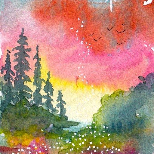 landscape watercolor patron