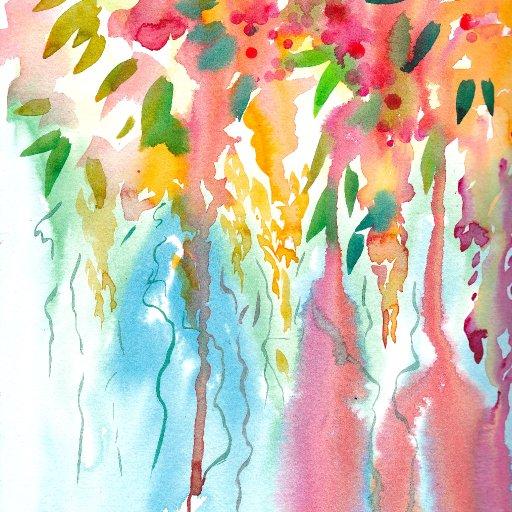 patron  abstract Watercolor