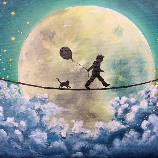 patron  boy in moon