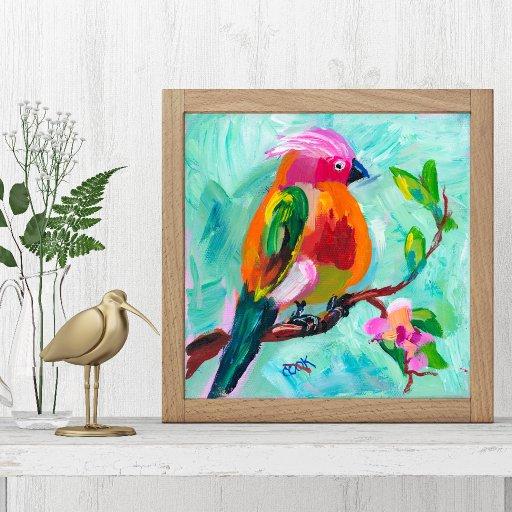 painted bird Hop Ginger Mock up #1