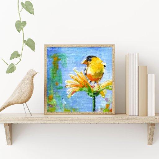 Yellow Bird Framed