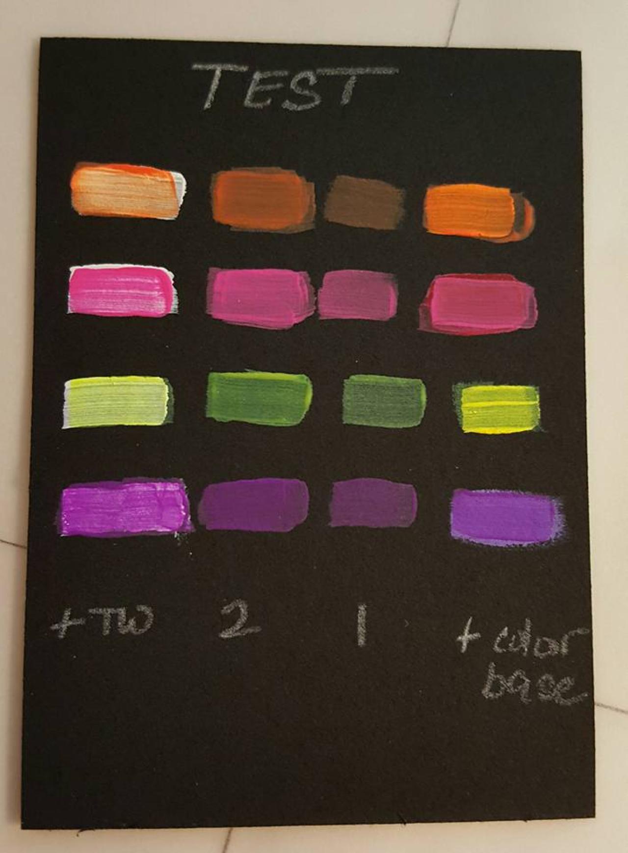 Fluorescent Glow Paint Test Regular Lighting - Gallery - Sonia Marie