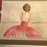 Watercolor lady resting