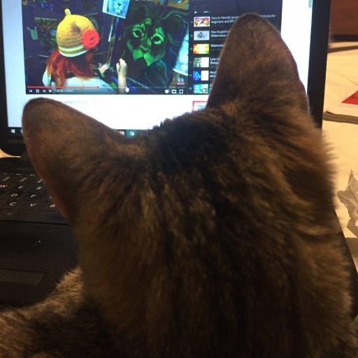 Suzi watching Art Sherpa Lion Lesson 1