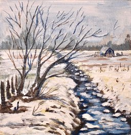 The Art Sherpa Winter Landscape 6 x 6 (free gift with purchase)