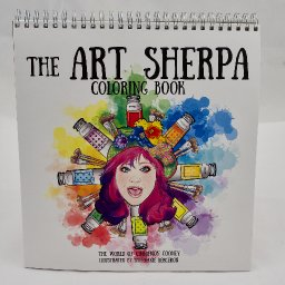 The Art Sherpa Coloring Book and Creatacolor Watercolor Pencils Set