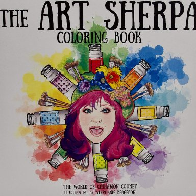 The Art Sherpa Coloring Book and Watercolor Pencils