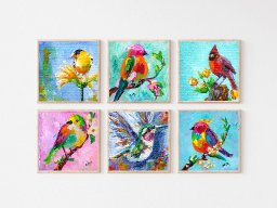 ALL SIX Bird Prints from both The Art Sherpa AND Ginger Cook