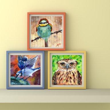 Three Bird Prints From The Art Sherpa