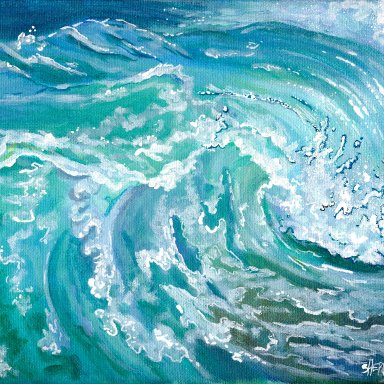 Sherpa Stash Sale -A Perfect Wave Acrylic Painting ONE OF A KIND