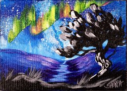 The Art Sherpa  Pair of 5 x 7s Eclipse and Aurora (free gift with purchase)