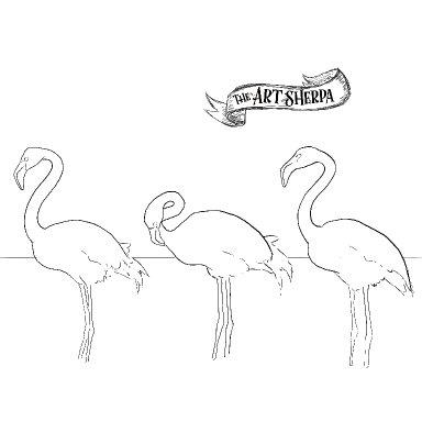 3 flamingos traceables