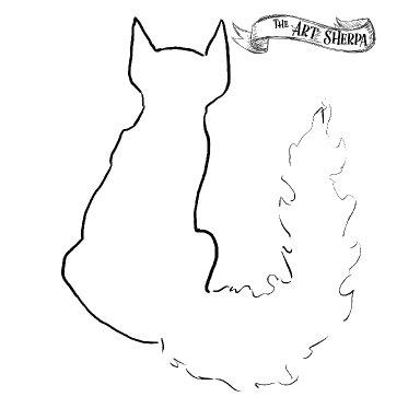Bloom watercolor cat