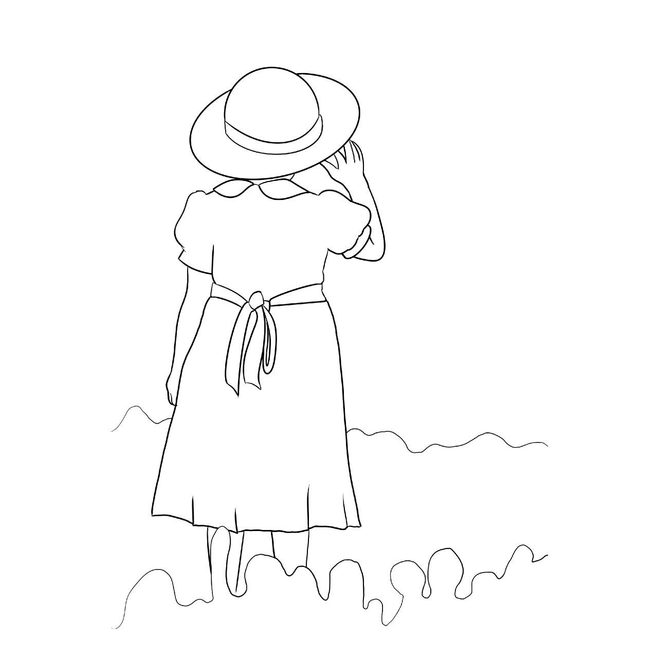 holly hobbie bonnet traceable