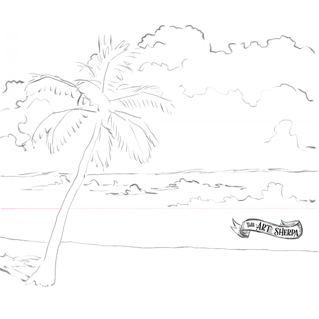 Realistic palm tree traceable