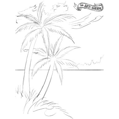 palm tree traceable