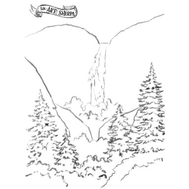 Easy Yosemite Waterfall Traceable
