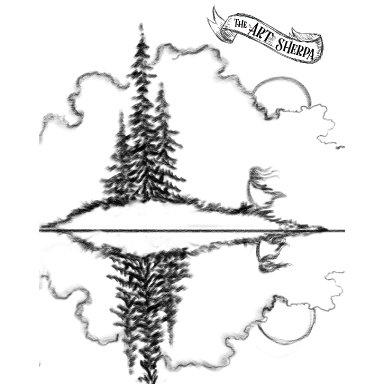 pine tree island traceable