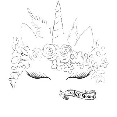 unicorn Boho flower crown Traceable