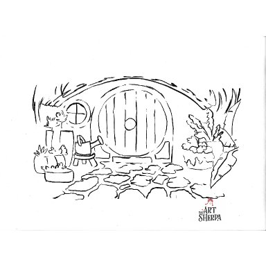 Hobbit Hole - Water Color