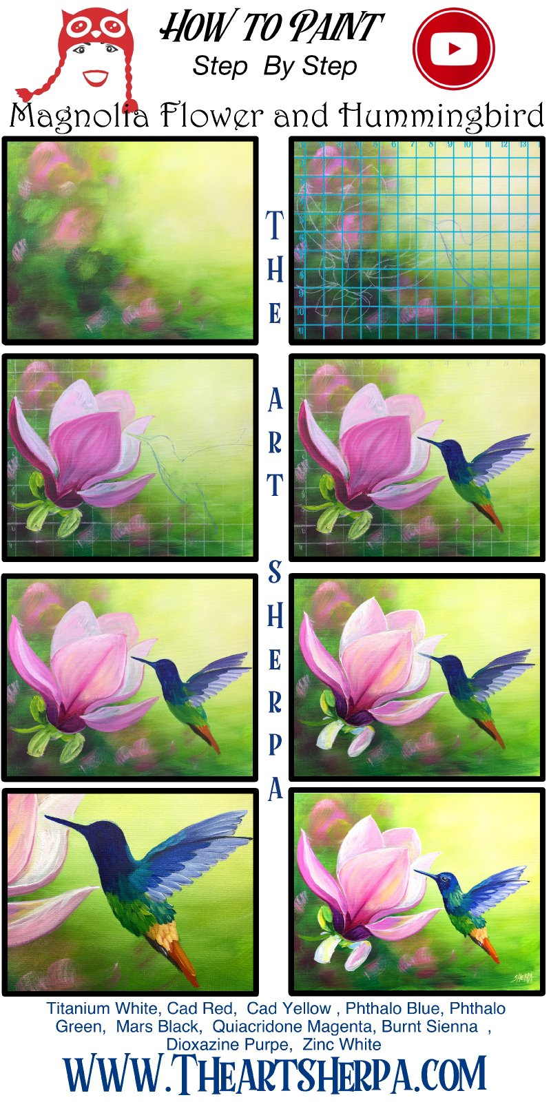 horizontal and Verticle Step by Step 2020 Hummingbird Magnolia Flower .jpg