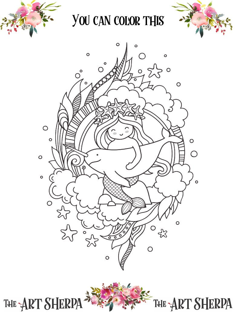 Coloring page narwhal .jpg