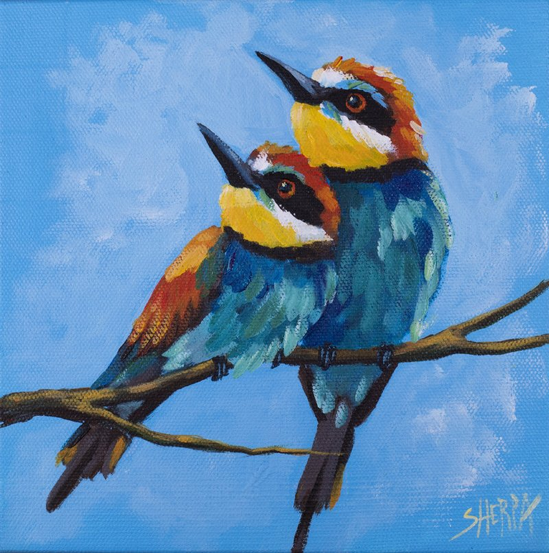 A Pair Of Birds Easy Daily Painting Step By Step Acrylic ...