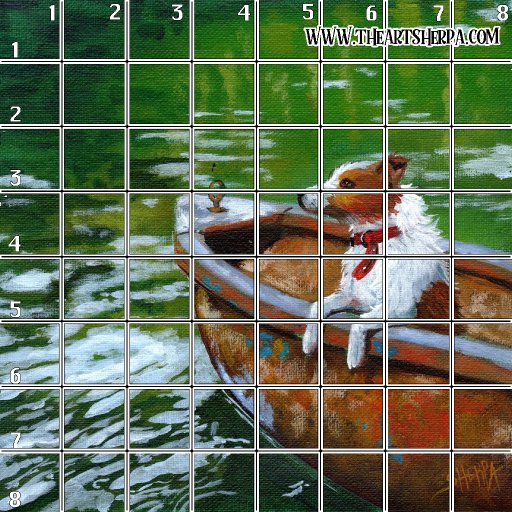 Acrylic april day 9 8 x 8 Refences and Grid .jpg