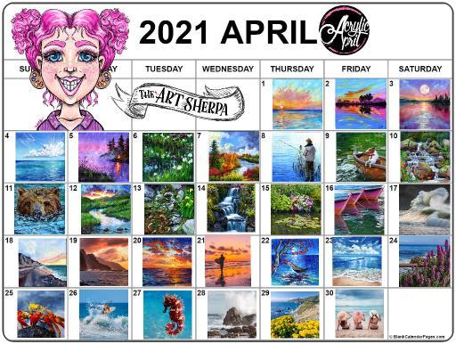 13 Acrylic April2021calendar  Koi .jpg