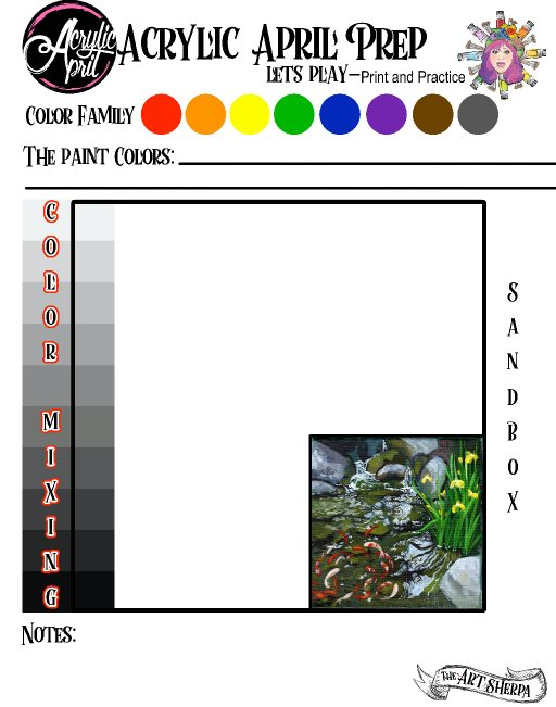 Day 13 Acrylic April 2021 Day prep page .jpg