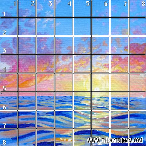 Day 14 acrylic april 8 x 8 Refences and Grid .jpg
