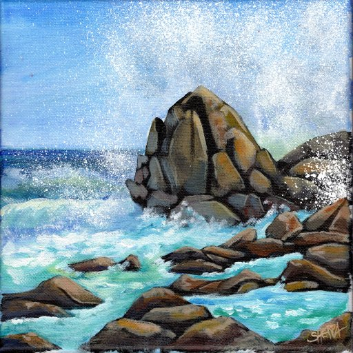 Day 28 Rock ocean Acrylic April 2021  .jpg