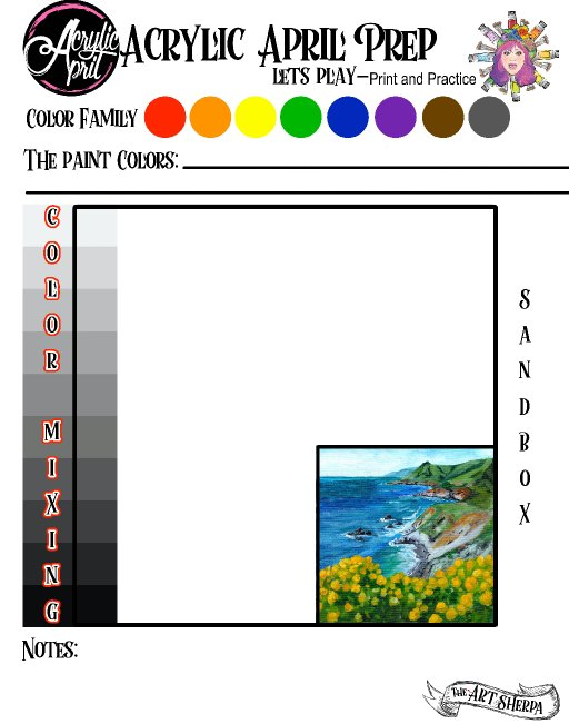 Day 29 Acrylic April 2021 Day prep page .jpg