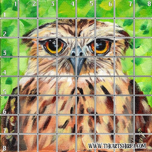 8 x 8 Refences and Grid  grumpy owl .jpg