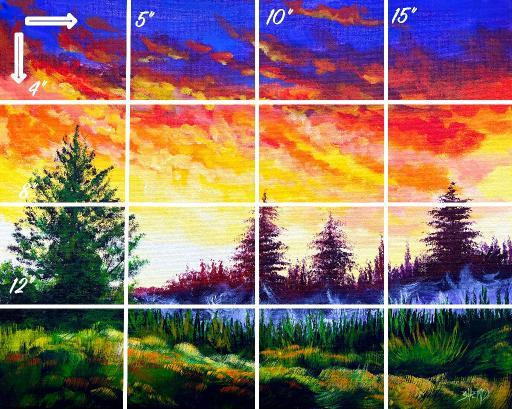 16x20 grid Horizontal late summer sunset misty landscape   .jpg