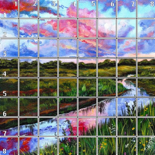 8 x 8 Refences and Grid late summer sunset stream .jpg