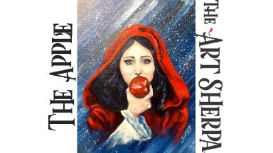 How to paint Acrylic on Canvas  Snow White and the Apple LIVE  About Face #22