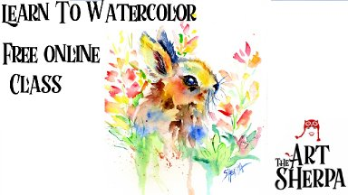 how to paint a bunny Watercolor