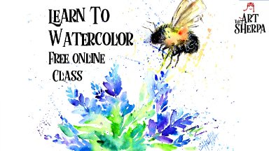 How to paint a Fuzzy bee watercolor