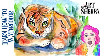 Learn How To Watercolor Paint Online Class A Simple Tiger