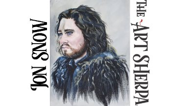 How to paint Jon Snow in acrylic on Canvas PART #1 About Face 21 LIVE