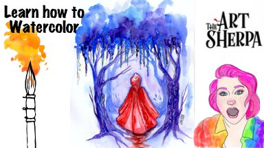 Red Riding Hood Watercolor