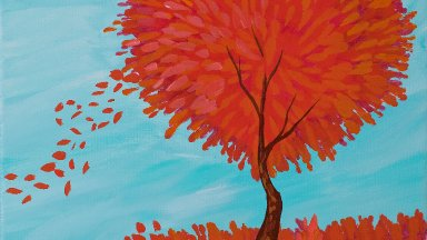 Heart shaped Love Tree Step by step Acrylic Painting tutorial   TheArtSherpa