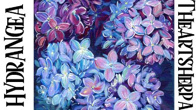 Hydrangea Floral painting step by step in acrylic | TheArtSherpa