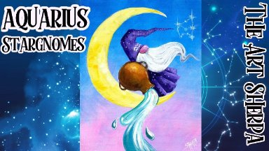 Aquarius Star Gnome Step by step Acrylic Painting   TheArtSherpa