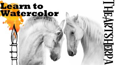 How to paint White Horses in Watercolor Step by Step