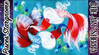 Pisces  Star Gnome easy Step by step Acrylic Painting   TheArtSherpa