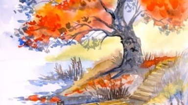 Fall  Tree by The Lake