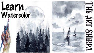 Simple Watercolor Landscapes